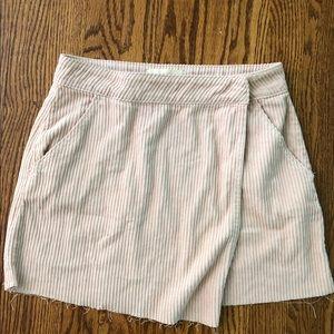 PacSun Nude Pink Corduroy Wrap Skirt